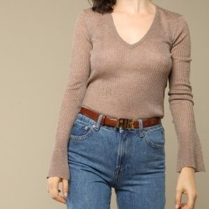 Rouje FRANCOISE sweater lurex Knit Top Holiday